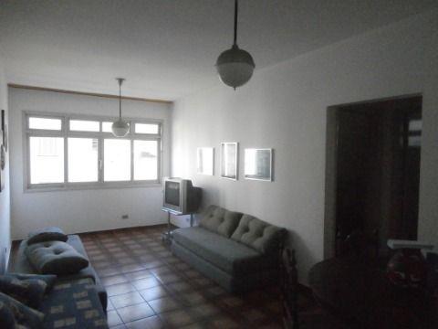 Apartamento 1 dormitório, sala, cozinha, banheiro e área de serviço no Itararé em São Vicente.