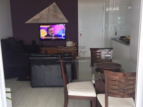 Apartamento 2 dormitórios sendo 1 suíte, sala 2 ambientes, cozinha, banheiro, área de serviço e varanda gourmet no Itararé em São Vicente