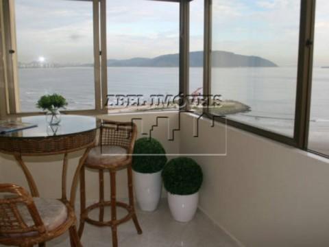 Apartamento com vista privilegiada do mar de Santos e São Vicente