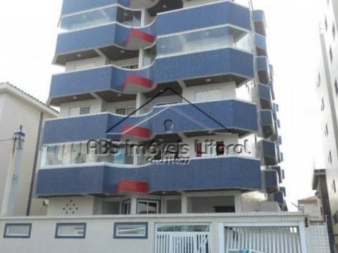 Apartamento Pé na areia de 1 dormitório em Praia Grande-SP