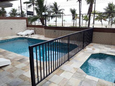 Apartamento frente mar de 2 dormitórios na Aviação em Praia Grande