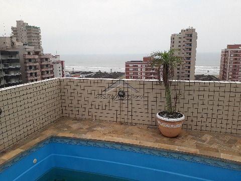 Cobertura linda 3 dormitórios com Dependência na Tupi em Praia Grande