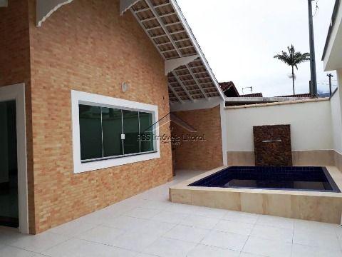 Casa 4 Dormitórios com Piscina no Jardim Real em Praia Grande - SP