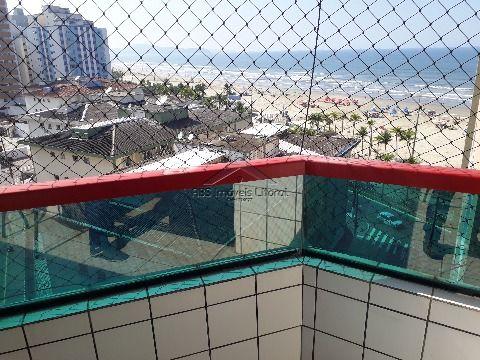 Lindo apartamento com 2 dormitórios e vista para a praia na Ocian em Praia Grande