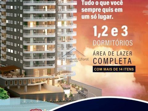 Apartamento Frente Mar na Vila Caiçara em Praia Grande (ENTRADA DE 23.200,00)