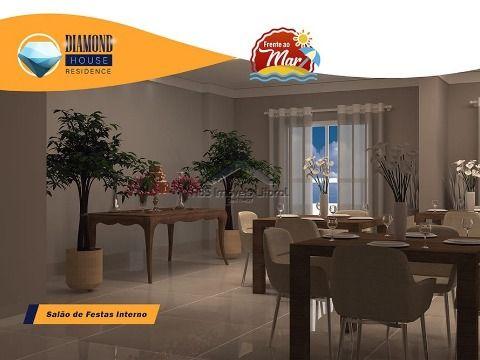 Apartamento novo Frente Mar na Vila Caiçara em Praia Grande (ENTRADA DE R$31.200,00)