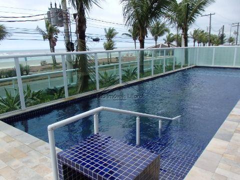 Apartamento 2 suítes e 2 vagas de frente ao mar Vila Caiçara em Praia Grande - SP