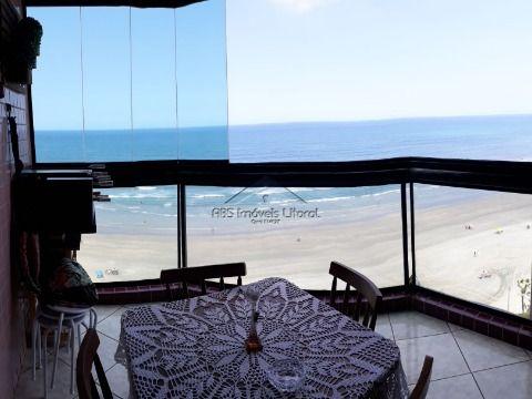 Apartamento frente mar 3 Dormitórios na Vila Caiçara em Praia Grande - SP