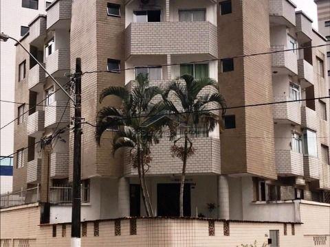 Apartamento 1 dormitório com sacada na Ocian em Praia Grande