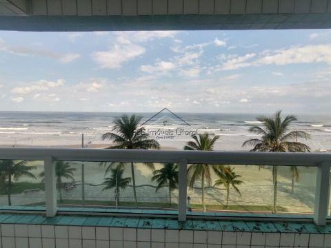 Apartamento frente mar Pé na areia 2 Dormitórios no Jardim Real em Praia Grande