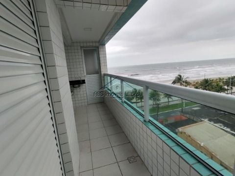 Apartamento frente mar Pé na areia 1 Dormitórios Suite no Jardim Real em Praia Grand