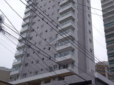 Apartamento de 1 dormitório na Vila Caiçara na Praia Grande - SP