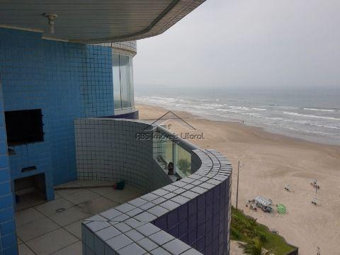 Apartamento Frente Mar 2 Dormitório com suíte no Maracanã na Praia Grande