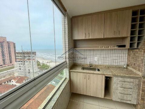 Apartamento de 2 dormitórios frente mar no Caiçara em Praia Grande ( entrada 200 mil )