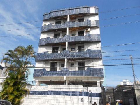 Apartamento de 1 dormitorio com sacada na Vila Mirim em Praia Grande