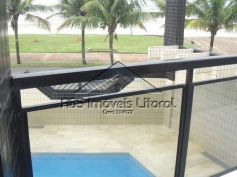Apartamento de frente para o mar, no Jardim Imperador - Praia Grande-SP