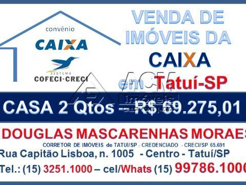Casa Tatuí - 2 Qtos - R$ 69.275,01