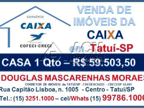 Casa - Tatuí - 1 qto - R$ 59.503,50