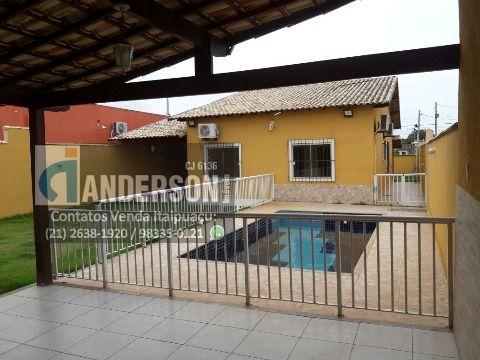 Casa 3 qtos, piscina e churrasqueira em Itaipuaçu