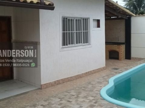 Casa em Itaipuaçu com 2qtos (1 suíte), piscina e churrasqueira