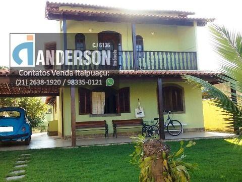Casa duplex em Itaipuaçu  3qtos (1 suíte) com churrasqueira