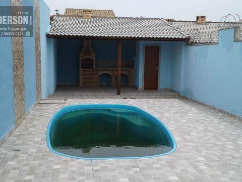 Ótima Casa c/ 3 Qts, Suíte, com Piscina e Churrasqueira. Prox a praia da Rua 1 e Terminal Rod.