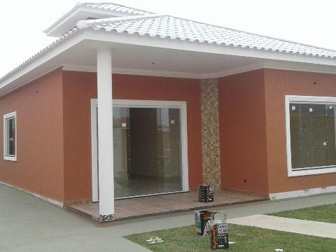 Casa 3 Qtos (1suíte) c/ churrasqueira, terreno 440m² rua asfaltada em Itaipuaçu
