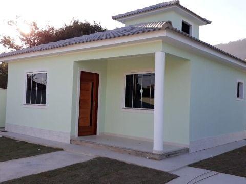 Casa 3Qtos(1 suíte) porcelanato, terreno 480m² prox. asfalto em Itaipuaçu