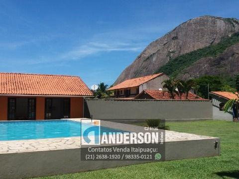 Casa no Recanto c/ Piscina, Edicula, Quitinete, Loja Comercial. Terreno c/ 1800m²