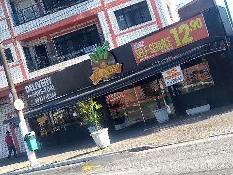 Restaurante e hamburgueria na Praia Grande Localizada na principal avenida da cidade