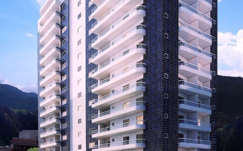 Apartamento em Praia Grande, Vila Guilhermina, 3 dormitórios.