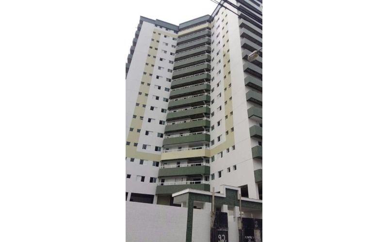 Apartamento em Praia Grande, Vila Guilhermina, 2 dormitórios, sacada gourmet.