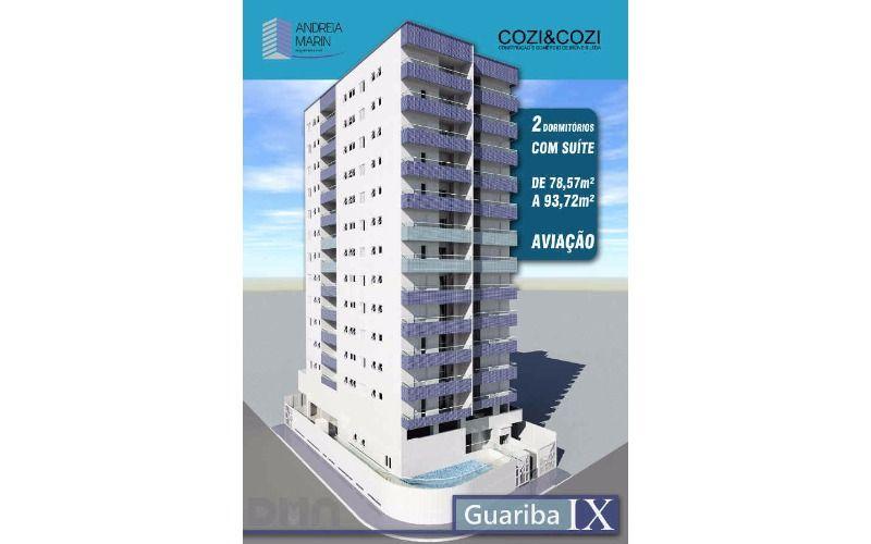 Apartamento em Praia Grande, Campo da Aviação, 2 dormitórios.