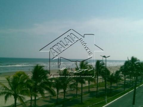 Apartamento em Praia Grande, com 1 dormitório, de frente para o mar