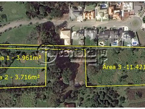 Áreas à 5 minutos do centro da cidade, fácil acesso. Ideal para loteamento, conjunto vila, formação de chácaras, etc.