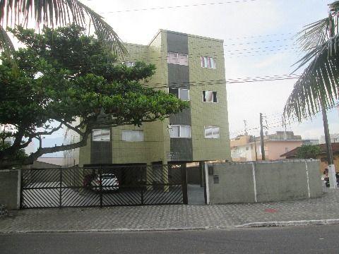 Apartamento em prédio frente mar Vila Caiçara , 1 dormitório.