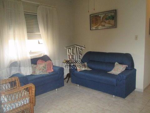Apartamento de 1 dormitório - Vila Caiçara a 150m da praia.