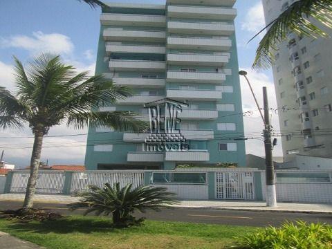 Apartamento 1 dorm prédio frente mar em Vila Caiçara