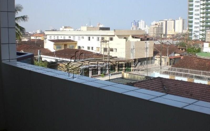 vista da porta do apartamento