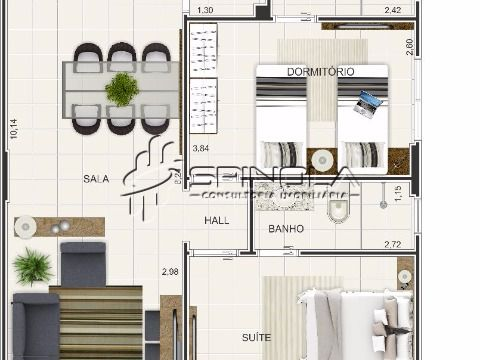 Apartamento no Maracaña, Praia Grande