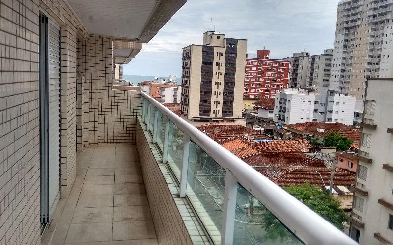 Apartamento de 2 dormitórios na Cidade Ocian, com vista pro mar e Varanda Gorumet