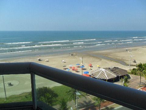 Apartamento 2 dormitórios sendo 1 suite na Praia Grande - Vila Caiçara com Vista pro Mar