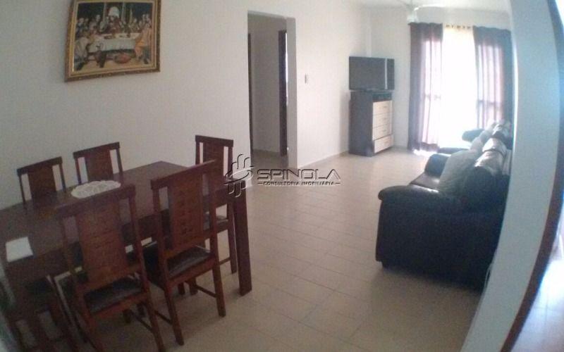 Apartamento mobiliado à venda de 1 dormitório com 65m² na Vila Guilhermina - Praia Grande