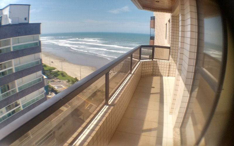 Apartamento de 1 dormitório frente mar - Vila Caiçara. Praia Grande