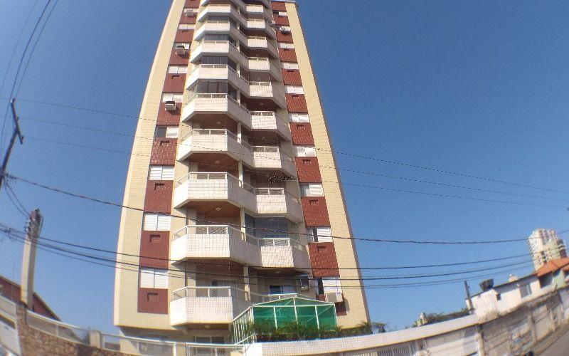 Apartamento de 2 dormitórios com varanda gourmet e vista mar em Praia Grande, Aviação