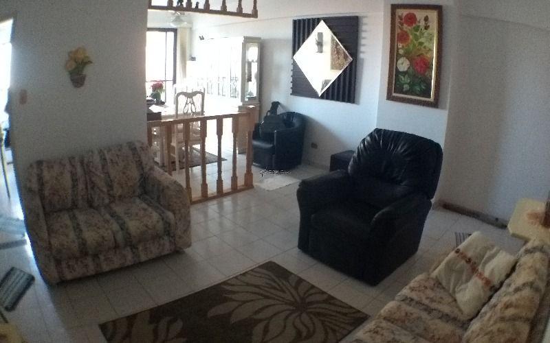Apartamento de 1 dormitório com sacada vista mar em Praia Grande - Vila Caiçara