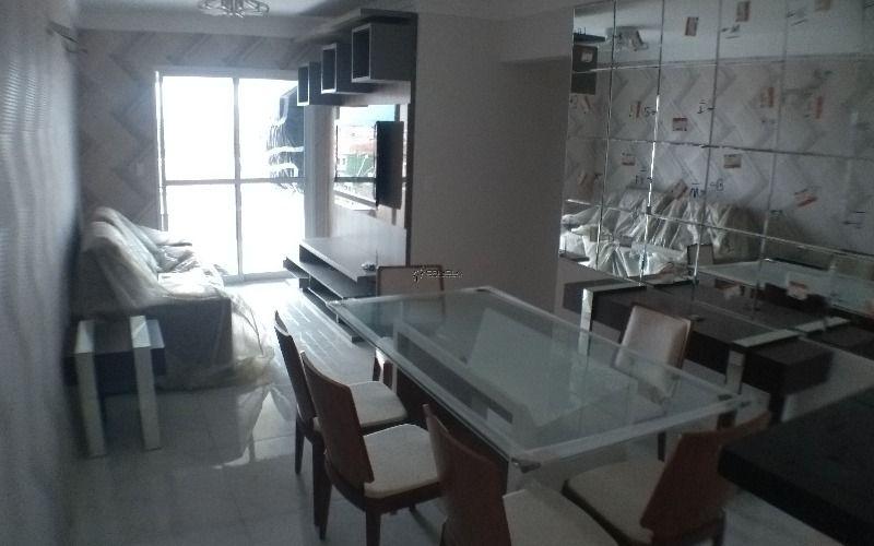 Apartamento de 3 dormitórios com suíte e Varanda Gourmet na Vila Caiçara - Praia Grande