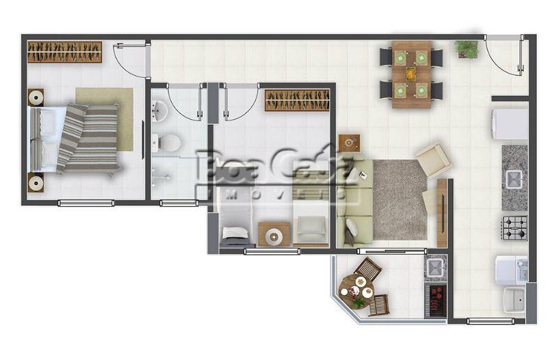 2 dormitórios + sacada