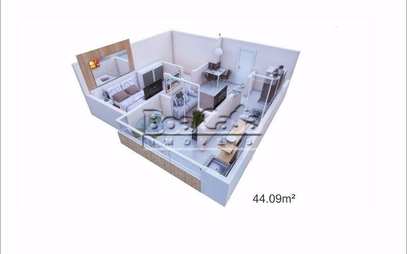 1 dormitório + 1 vaga + varanda gourmet