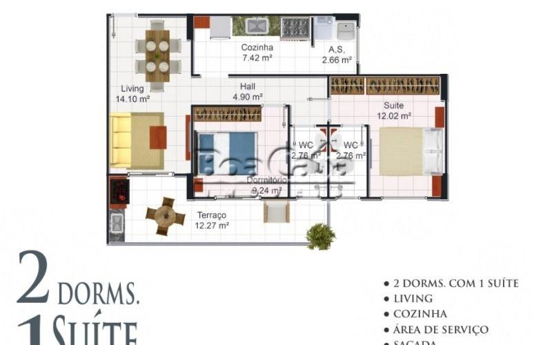 2 Dormitórios (1 Suíte) + 1 Vaga + Varanda Gourmet